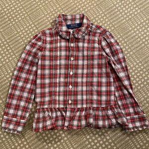 Polo Ralph Lauren 3T tartan blouse